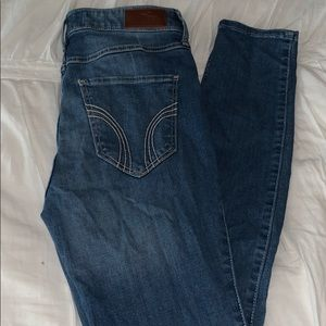 hollister skinny jeans, high rise